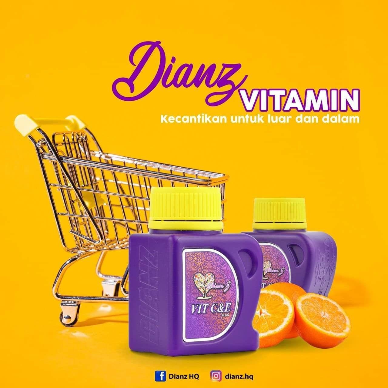 Dianz vitamin- pengalaman pengunaan & kebaikan vitamin C dan E
