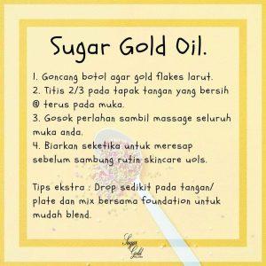 Sugar Gold Oil – Face oil MALAYSIA- Luxury Beauty OIl, KOSMETIK CIDA