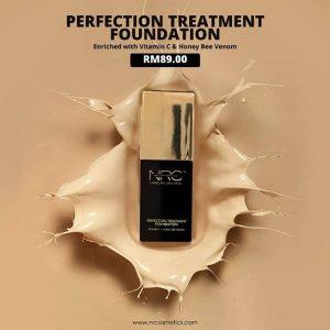 Kelebihan NRC Perfection Treatment Foundation, KOSMETIK CIDA