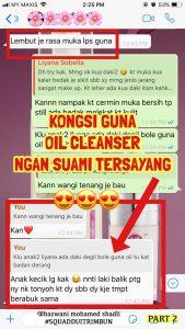 INFO HERV BRIGHTENING OIL CLEANSER :  DOUBLE CLEANSING METHOD & PAKAR NYAH DAKI, KOSMETIK CIDA