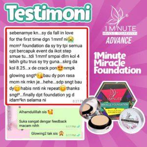 Info , Review & Testimoni – 1minute miracle foundation ( Foundation Mua bellaz), KOSMETIK CIDA