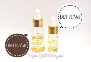 Bahan bahan yang terkandung di dalam sugar gold oil ( face oil malaysia), KOSMETIK CIDA
