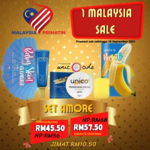 PROMOSI 1 MALAYSIA UNICO 2021 – HARI MALAYSIA, KOSMETIK CIDA